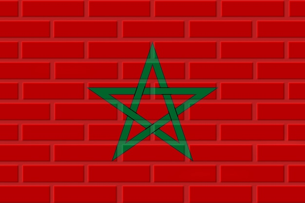 Marokko baksteen vlag illustratie