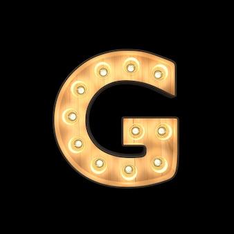 Marquee light alphabet g