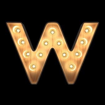 Marquee light alphabet w