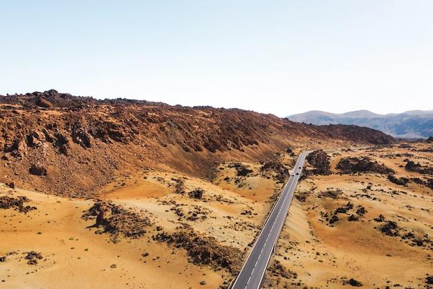 Mars het woestijnlandschap van de rode planeet