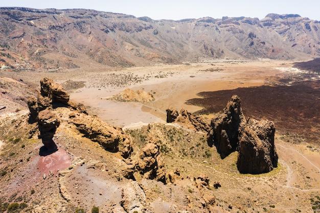Mars het woestijnlandschap van de rode planeet.