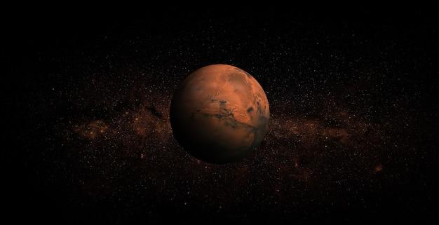 Mars in de ruimte