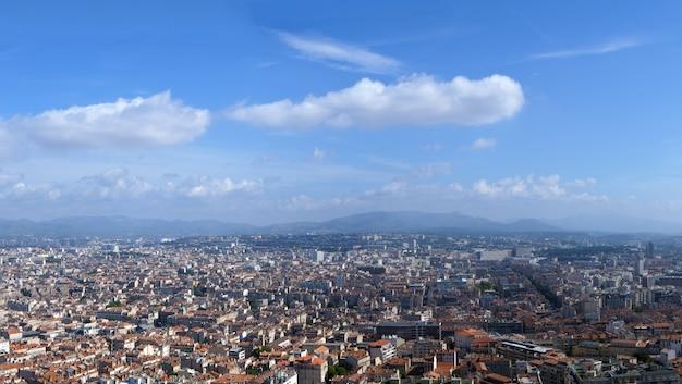 Marseille stad panoram