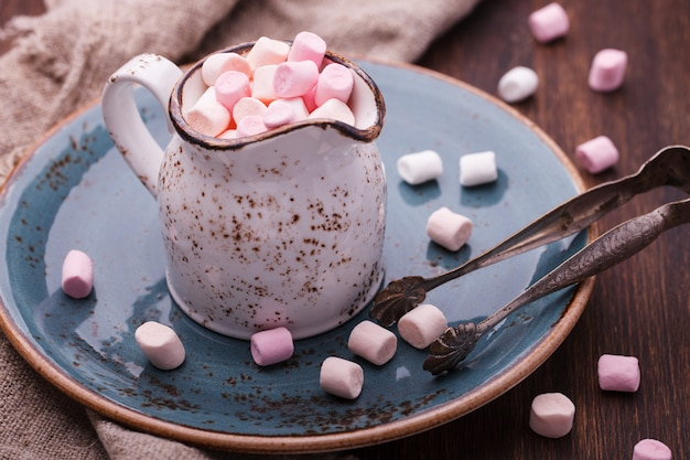 Marshmallow in een pot