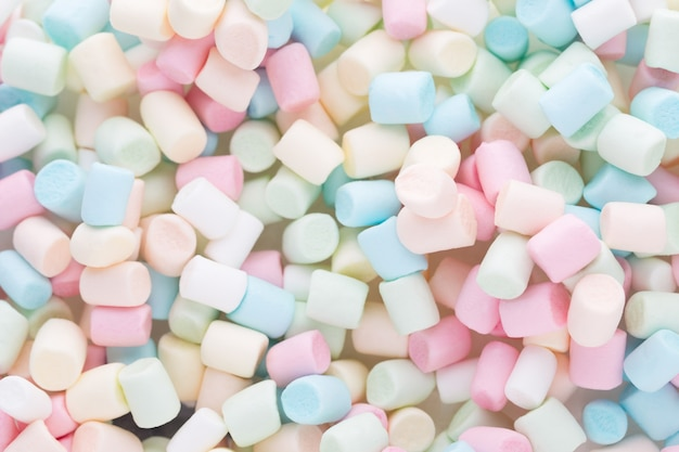Marshmallows of textuur van kleurrijke mini marshmallows