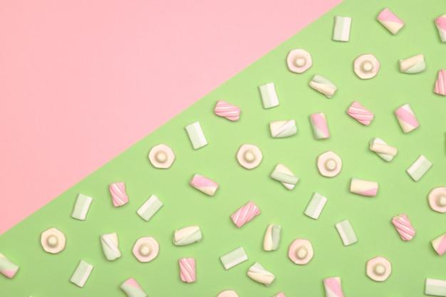 Marshmallows plat liggen