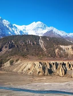 Marsyangdi rivier, passeer de tibetaanse vallei.