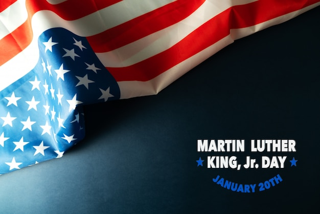 Martin luther king day anniversary - amerikaanse vlag abstracte achtergrond