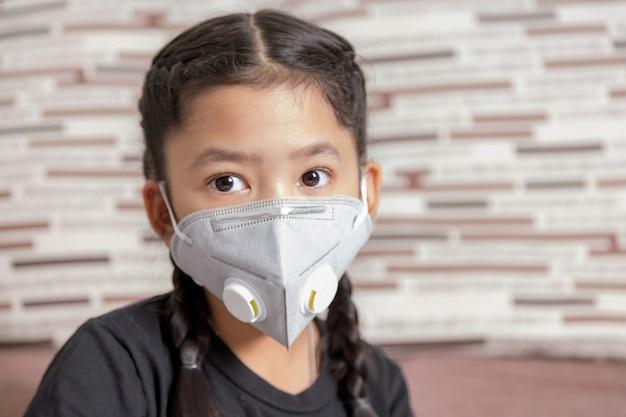 Masker ter bescherming pm 2.5 en coronavirus of covid-19.