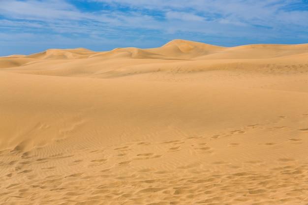 Maspalomas duna - woestijn in canarische eiland gran canaria