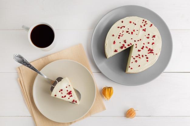 Matcha groene thee cheesecake