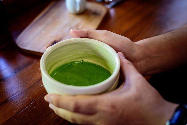 Matcha, groene thee, een favoriete drank uit het japans