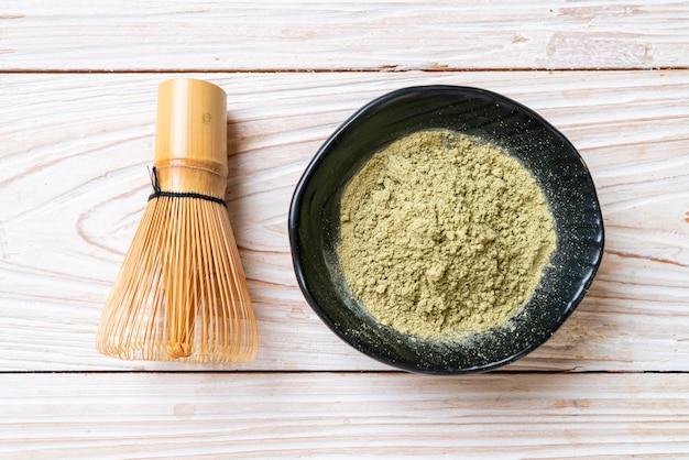 Matcha groene thee poeder met garde