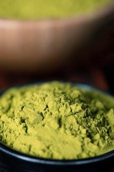 Matcha van de close-up groene aziatische thee