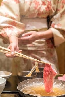 Matsusaka-rundvlees shabu