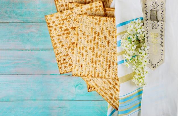 Matzoh joodse feestdag van matza pascha haggadah