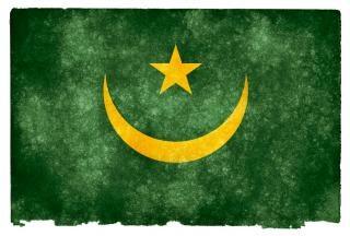 Mauritanië jaar grunge vlag