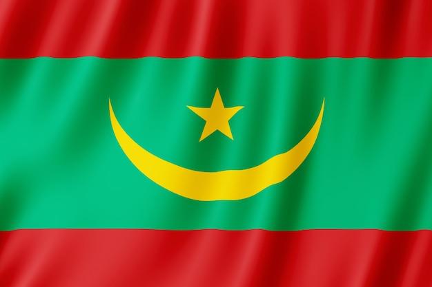 Mauritanië vlag zwaaien in de wind.