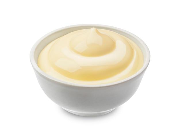 Mayonaise op wit wordt geïsoleerd dat