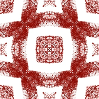 Medaillon naadloze patroon. wijn rode symmetrische caleidoscoop achtergrond. aquarel medaillon naadloze tegel. textiel klaar opmerkelijke print, badmode stof, behang, inwikkeling.