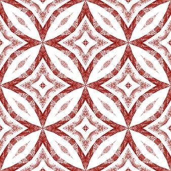 Medaillon naadloze patroon. wijn rode symmetrische caleidoscoop achtergrond. textiel klaar glamoureuze print, badmode stof, behang, inwikkeling. aquarel medaillon naadloze tegel.