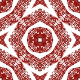 Medaillon naadloze patroon. wijn rode symmetrische caleidoscoop achtergrond. textiel klaar grote print, badmode stof, behang, inwikkeling. aquarel medaillon naadloze tegel.
