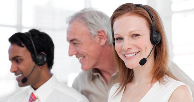 Medewerkers van de klantenservice en hun manager