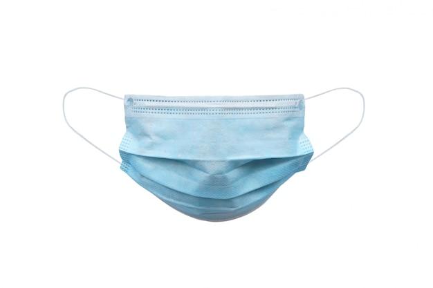 Medisch gezichtsmasker dat op wit wordt geïsoleerd