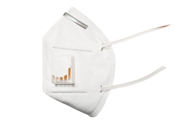 Medisch masker 3m met een klep die beschermt tegen virussen bij een coronavirus pandemie