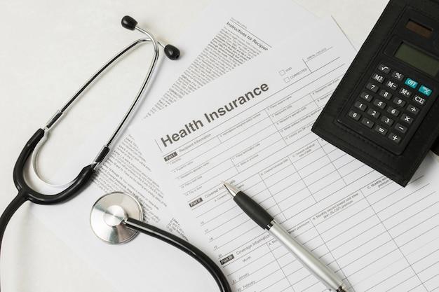 Medisch rapport met medische apparatuur