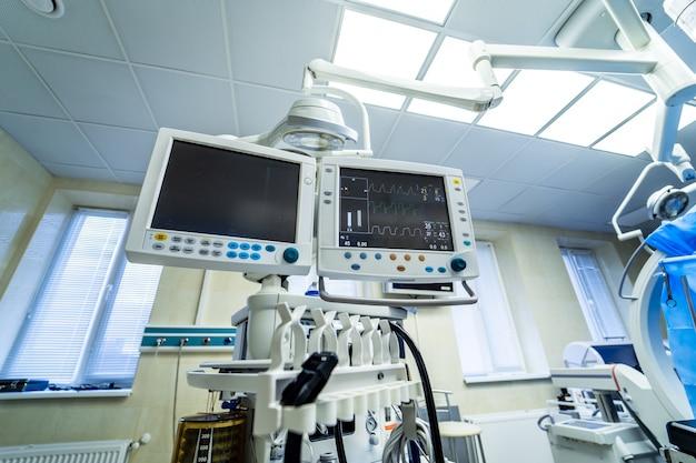Medische hulpmiddelen, interieur ziekenhuis ontwerpconcept