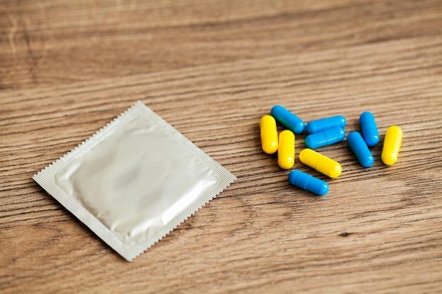 Medische potentiepillen voor seksuele gezondheid in capsules.