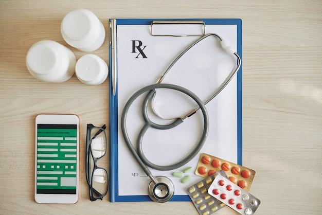 Medische verzekering concept