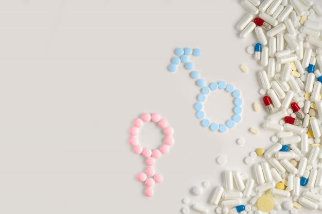 Medische voorbereiding voor zwangerschap. het concept van de geboorte van een gezond kind.