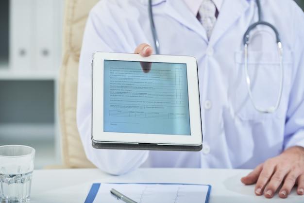 Medische vragenlijst