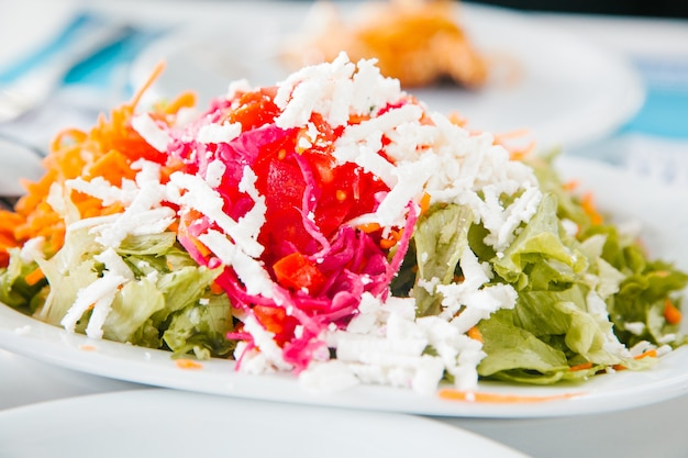Mediterraans food concept salade maken