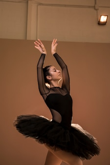 Medium geschoten ballerina zwaan houding
