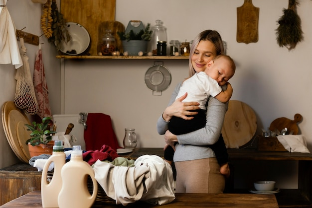 Medium geschoten moeder met kind
