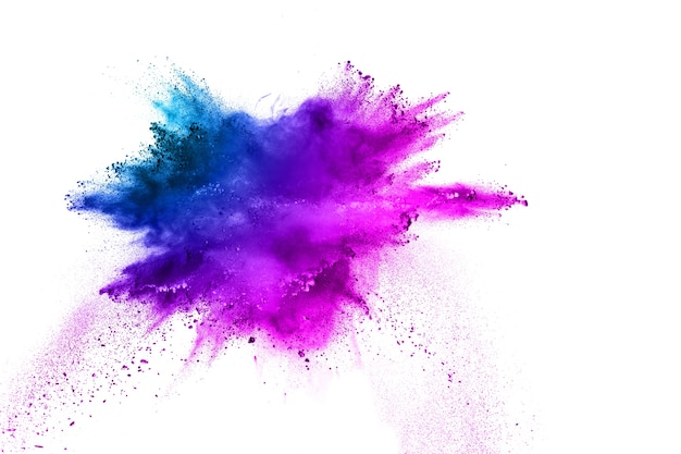 Meerkleurenpoeder-explosie