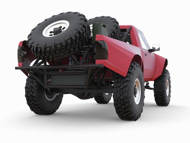 Meest geprepareerde rode sportrace-truck voor het woestijnterrein