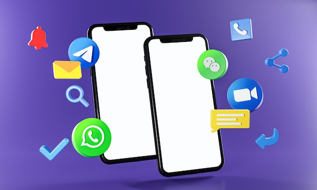 Meest populaire berichten communicatie-app zoom telegram whatsapp wechat-pictogrammen.