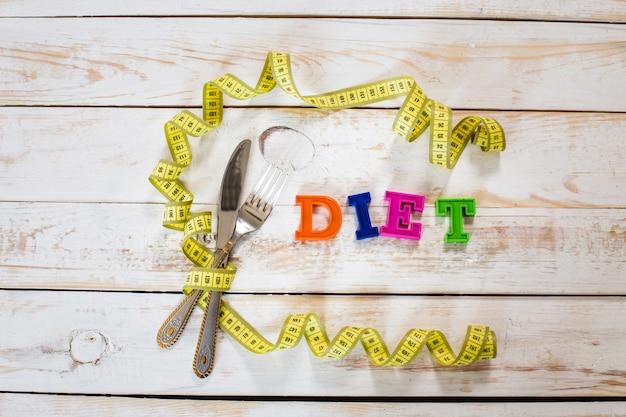 Meetlint, bestek en dieet inscriptie