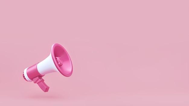 Megafoon aankondiging op roze achtergrond