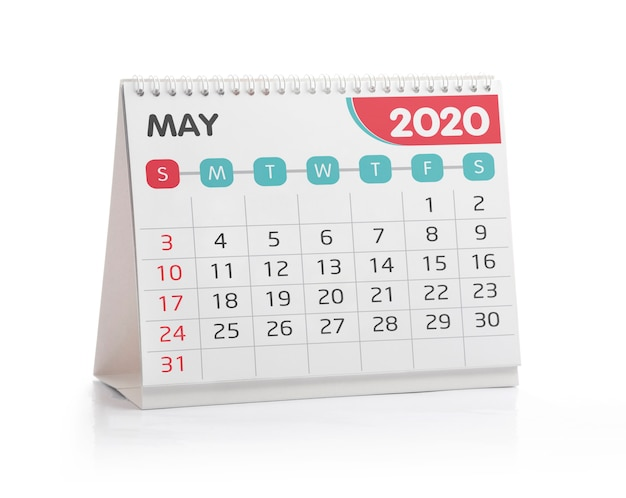 Mei 2020 desktopkalender