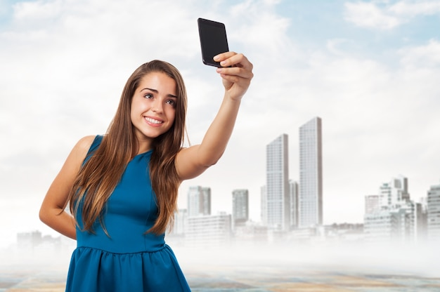 Meisje dat een selfie