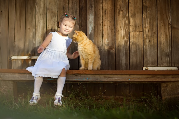 Meisje en kat