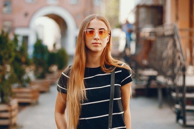 Meisje in een stad