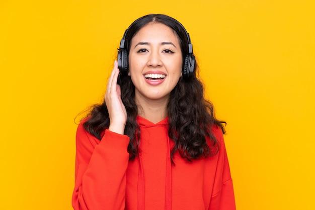 Meisje luisteren muziek