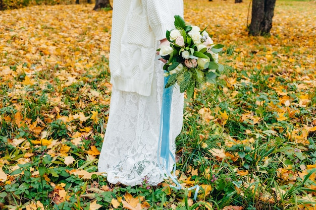 Meisje met een bruiloft boeket