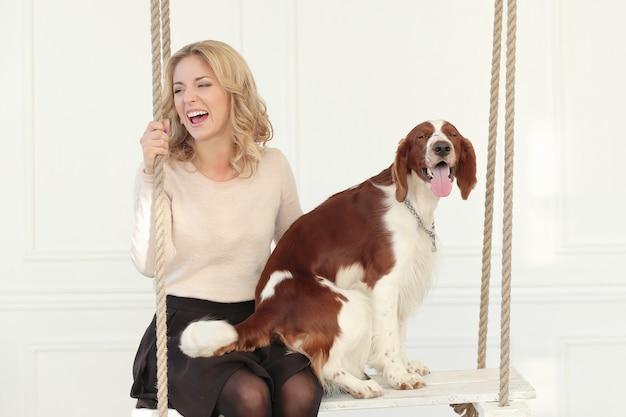 Meisje met een hond